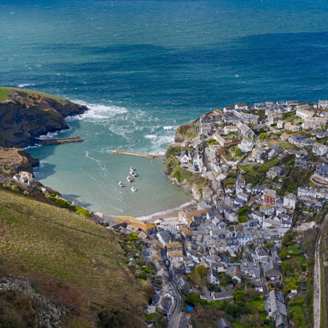 """Port Issac in Cornwall"" stock image"