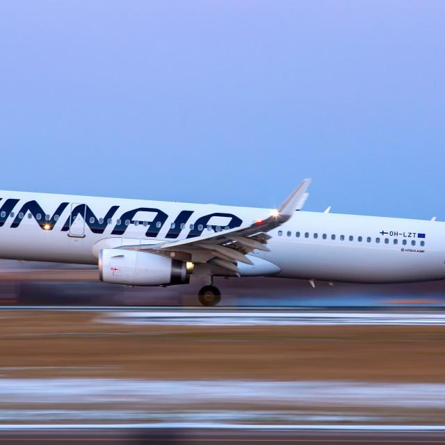 """""""Finnair Airbus A321"""" stock image"""