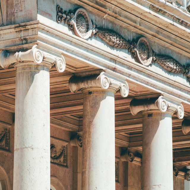 """""""Ionic Columns In Lisbon, Portugal"""" stock image"""