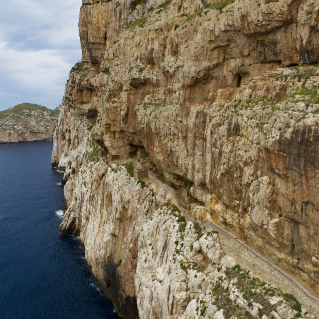 """Path to Grotta di Nettuna"" stock image"