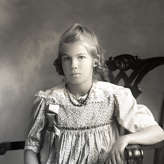 """""""Antique Portrait of Young Girl"""" stock image"""