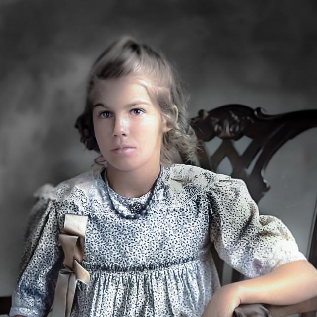 """""""Antique Portrait - colorized"""" stock image"""