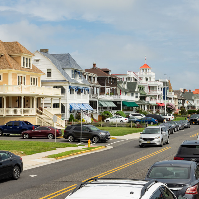 """Traffic at Cape May"" stock image"