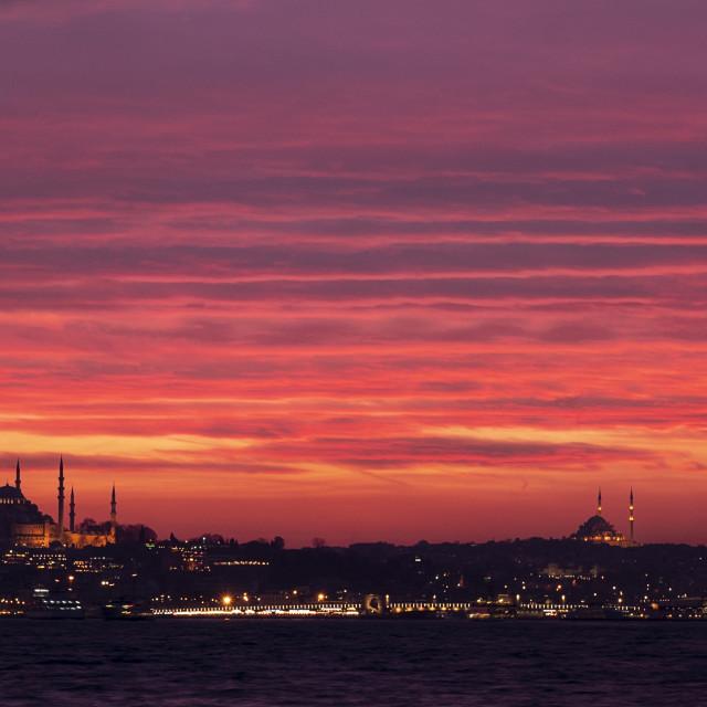 """""""Istambul sundown"""" stock image"""