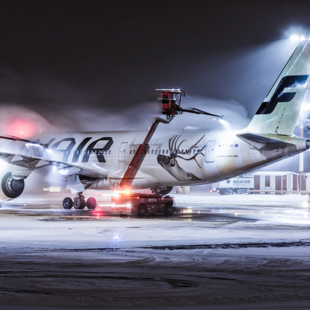 """De-icing at Helsinki Airport"" stock image"