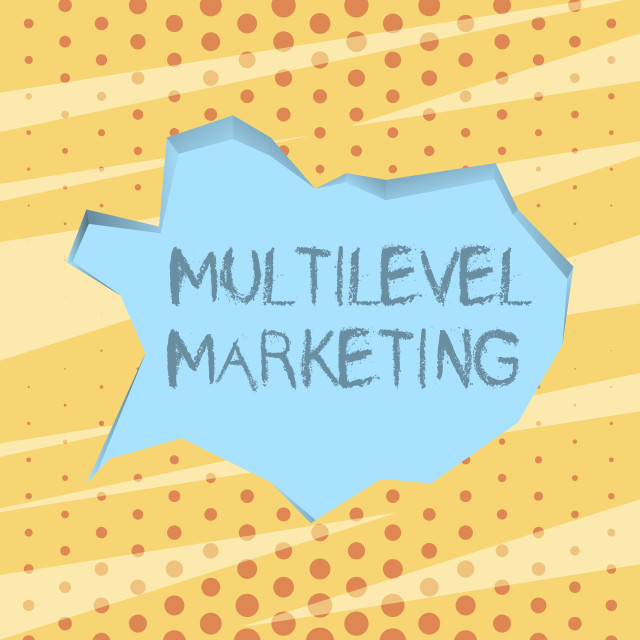 """""""Handwriting text writing Multilevel Marketing. Concept meaning marketing..."""" stock image"""