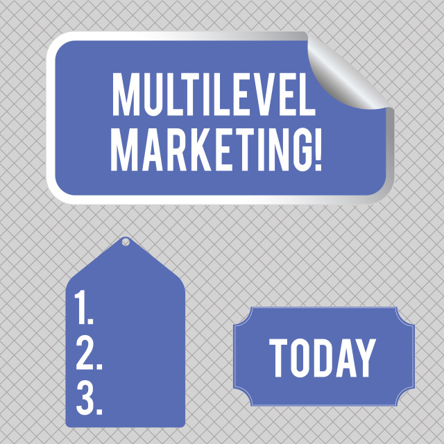 """""""Conceptual hand writing showing Multilevel Marketing. Business photo..."""" stock image"""