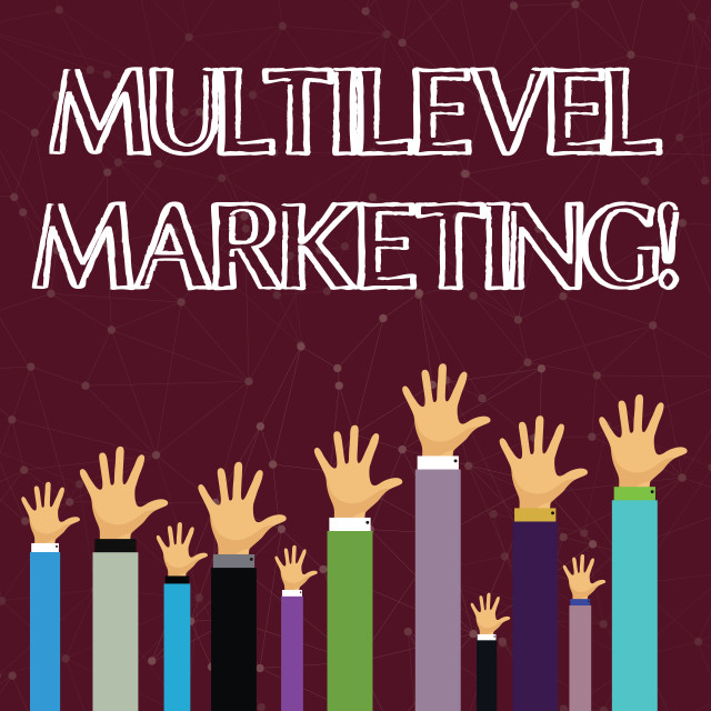 """""""Text sign showing Multilevel Marketing. Conceptual photo marketing strategy..."""" stock image"""