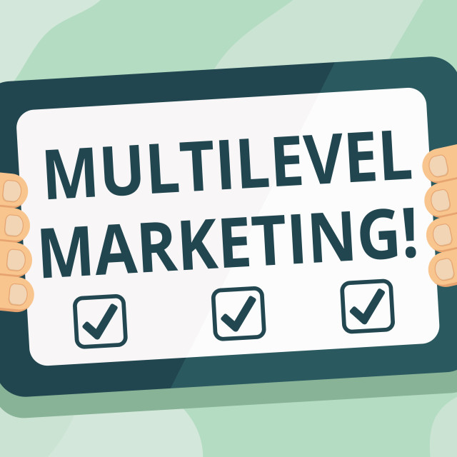 """""""Handwriting text Multilevel Marketing. Concept meaning marketing strategy for..."""" stock image"""