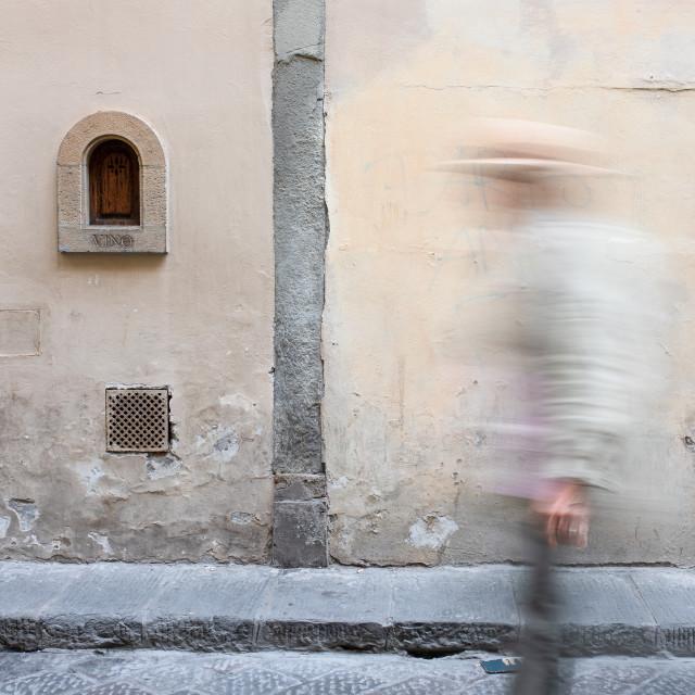 """""""Via del Trebbio"""" stock image"""
