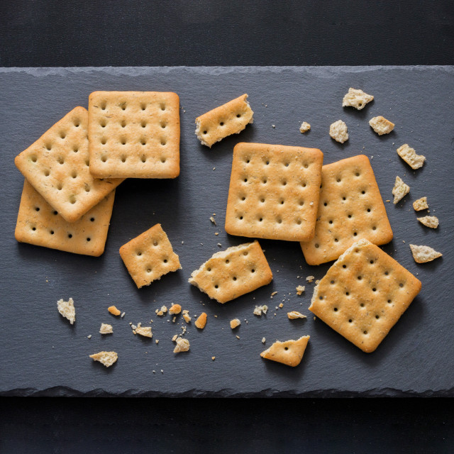 """Square salt crackers"" stock image"