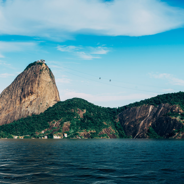 """""""Digital composite of flooded SugarLoaf Mountain in Rio de Janeiro, Brazil"""" stock image"""
