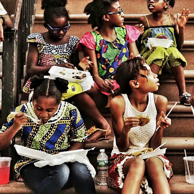 """""""little brooklyn women"""" stock image"""