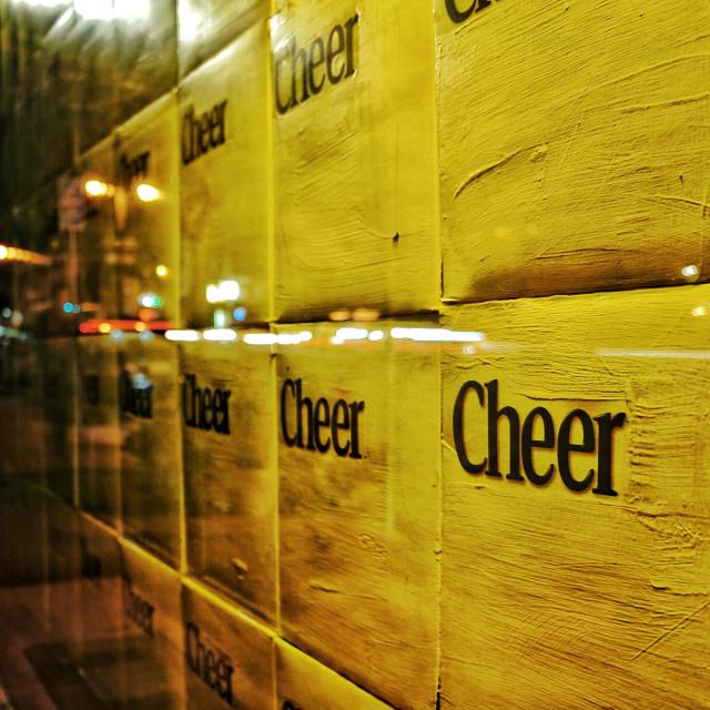 """""""Here we go cheerio"""" stock image"""
