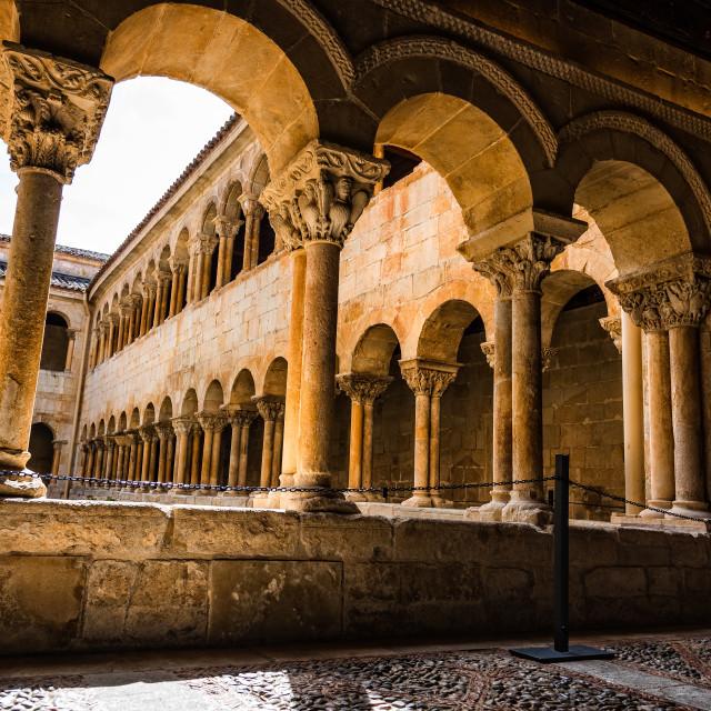 """The cloister of Santo Domingo de Silos Abbey"" stock image"