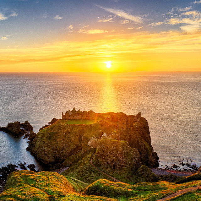 """Dunnottar Castle in Scotland"" stock image"