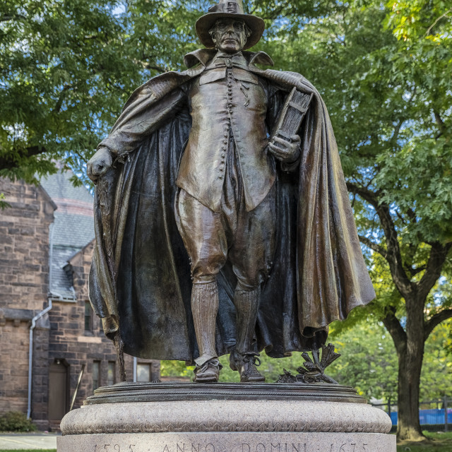 """The Puritan Statue in Springfield Massachusetts"" stock image"