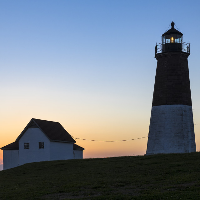 """Judith Point Lighthouse, Rhode Island"" stock image"