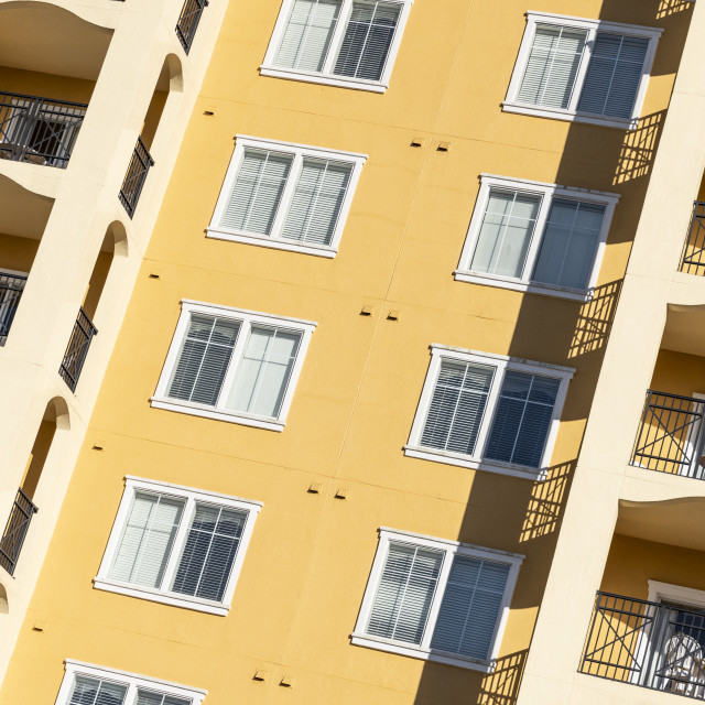 """Florida apartment building detail"" stock image"