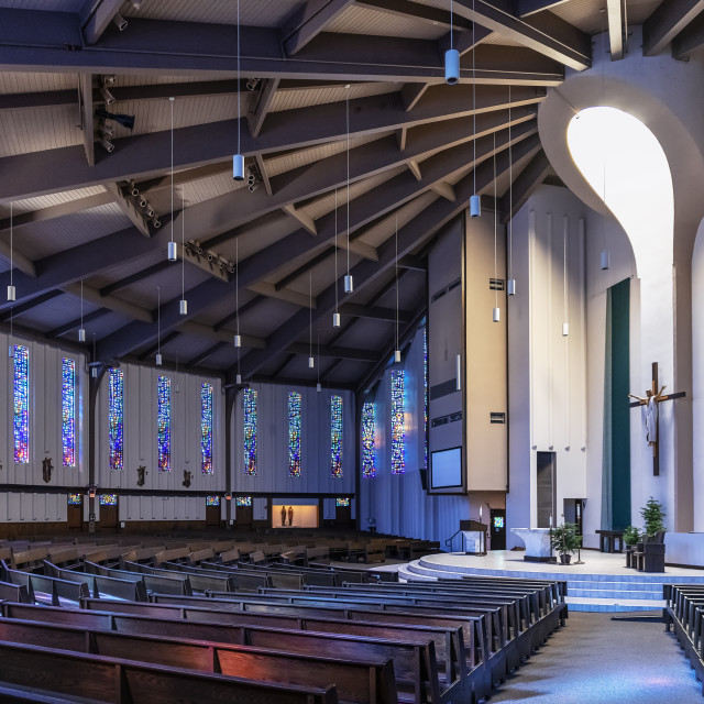 """St Margaret Mary Catholic Church, Winter Park, Florida"" stock image"
