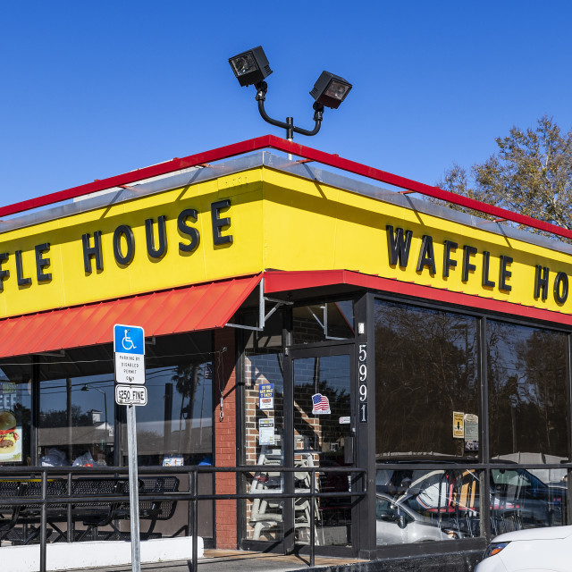 """Waffle House is an American restaurant chain"" stock image"
