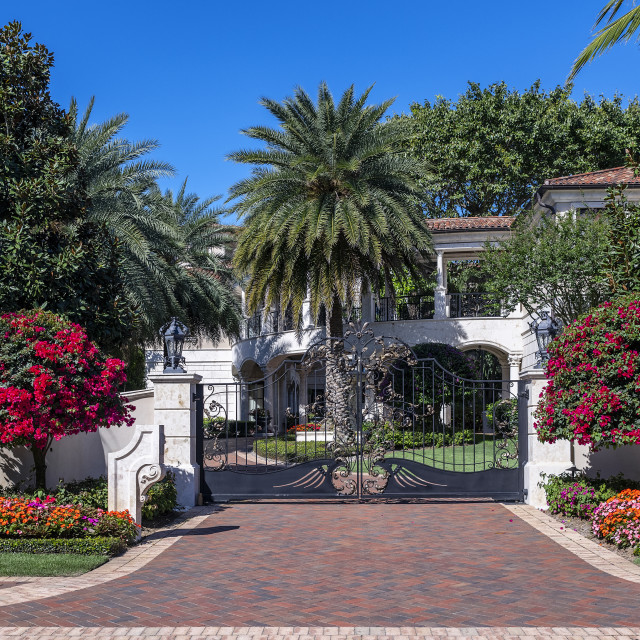 """High end estate and security gate, Naples, Florid"" stock image"