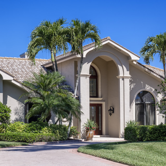 """Home in one of the many gated communities within the Naples area."" stock image"