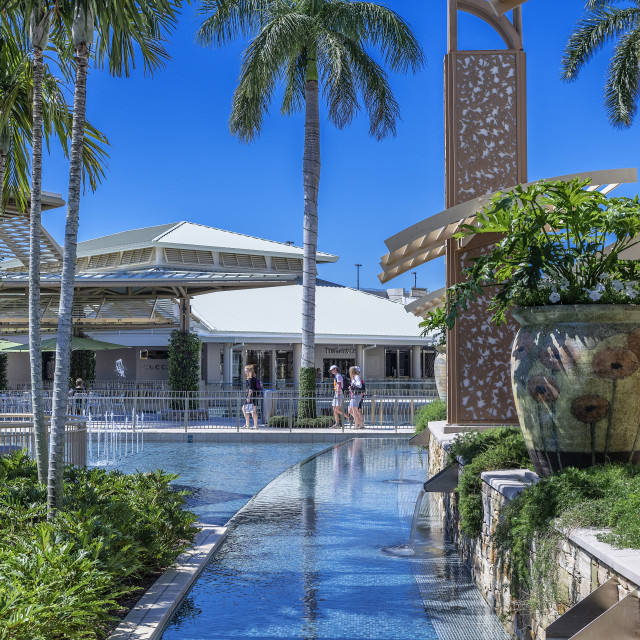 """The Waterside Shops is a high end mall in Naples, Florida"" stock image"