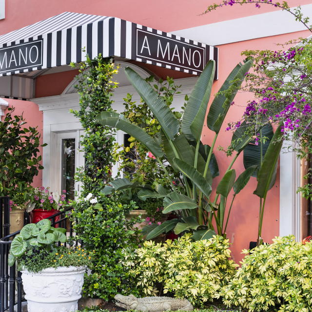 """A Mano luxury gift shop, Naples, Florida"" stock image"