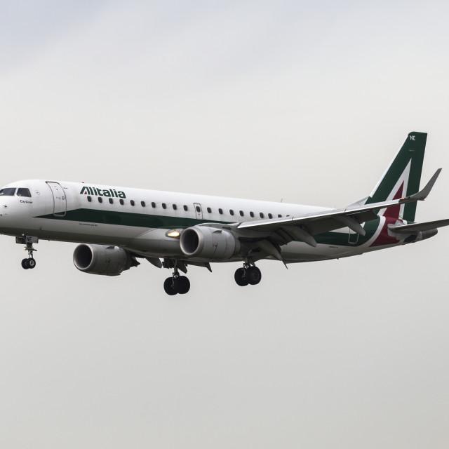 """Alitalia Embraer 190"" stock image"