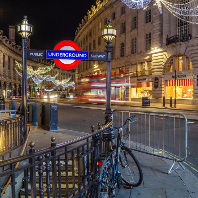 """London at Christmas"" stock image"