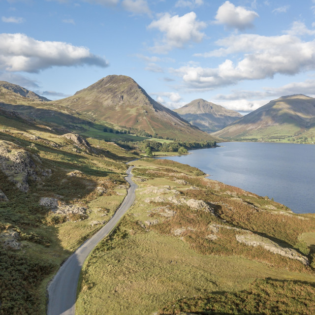 """""""Wast Water from the air"""" stock image"""
