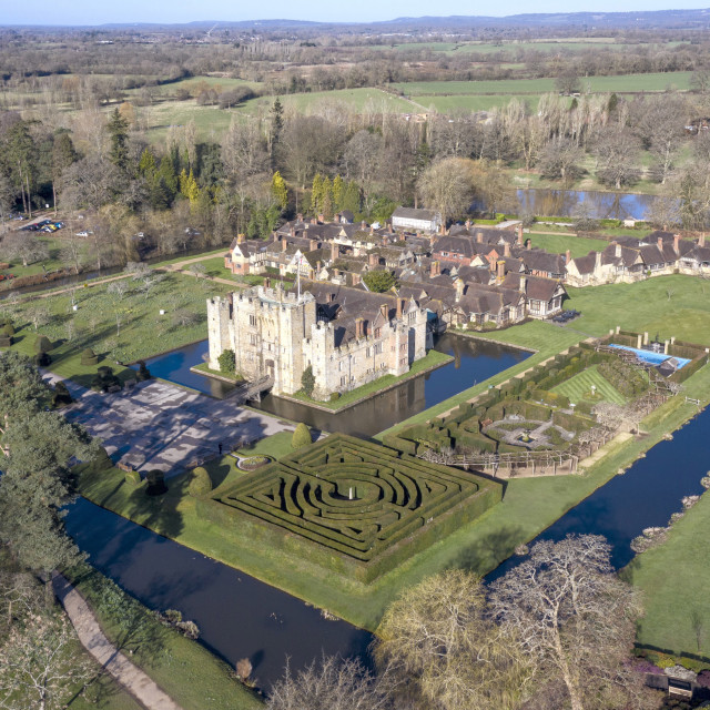 """Hever Castle By Drone"" stock image"