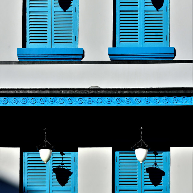 """""""Shutters and Shadows"""" stock image"""