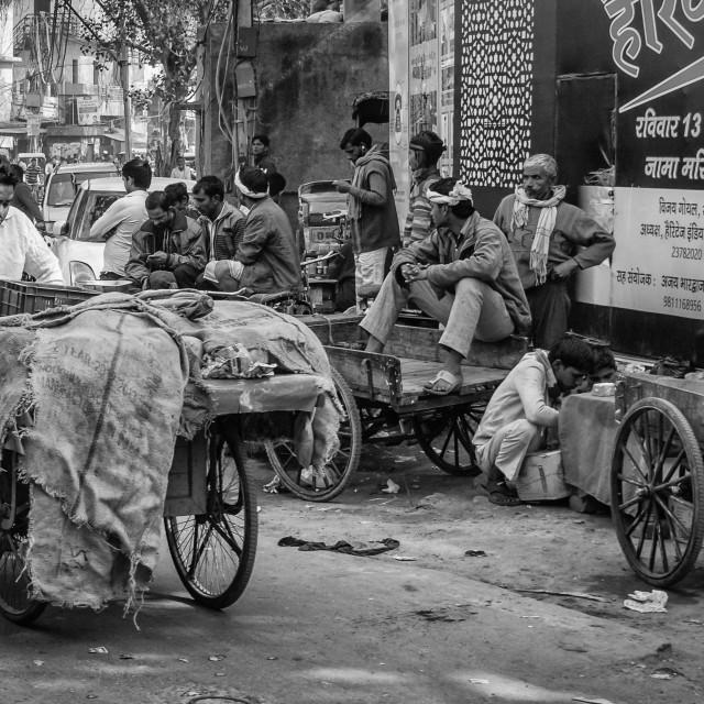 """""""Streets in old Delhi"""" stock image"""