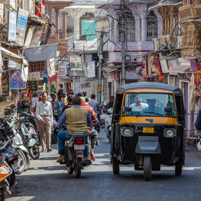 """""""The streets of Jaipur"""" stock image"""
