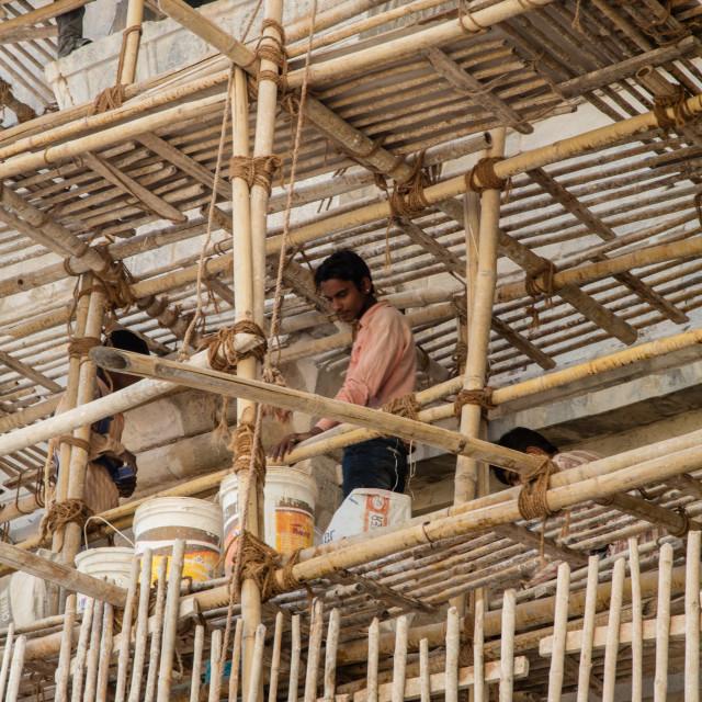 """Bamboo scaffold"" stock image"