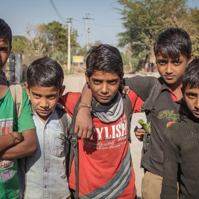 """Indian street kids"" stock image"
