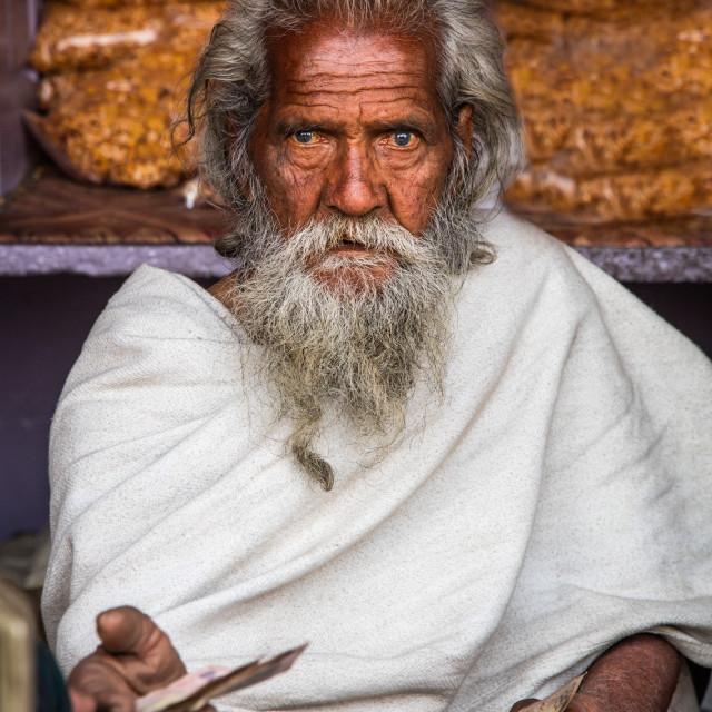 """Indian Spice dealer"" stock image"