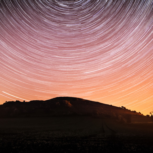 """""""Star Trail Hill"""" stock image"""