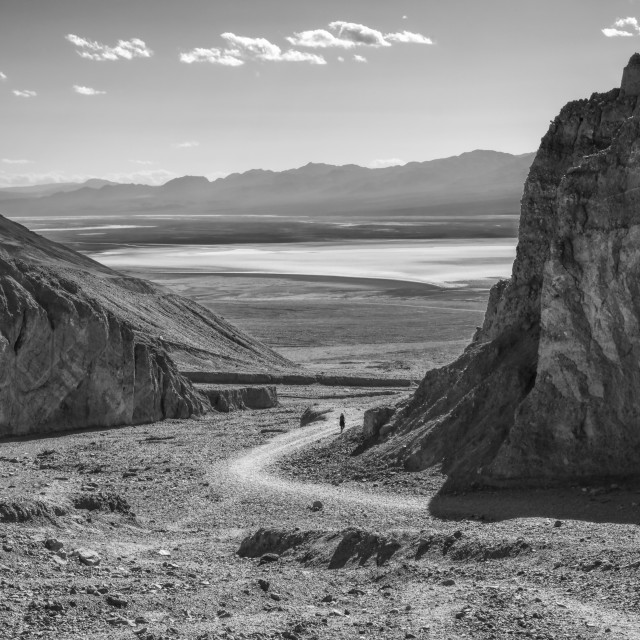 """""""Badwater Basin - Death Valley"""" stock image"""