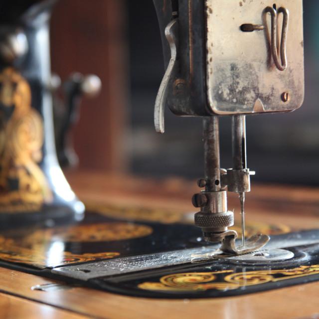 """Nostalgia ...Vintage Neva sewing machine"" stock image"