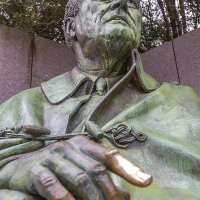 """View of Franklin Delano Roosevelt Memorial, Washington D.C. USA"" stock image"