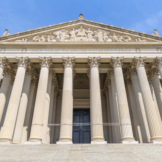 """View of National Gallery of Art on Pennsylvania Avenue, Washington DC"" stock image"