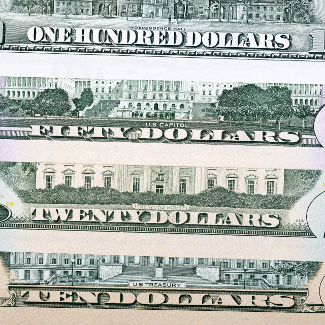 """American Dollars, a business background"" stock image"
