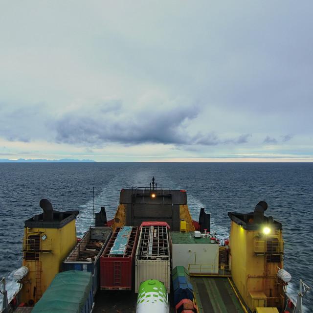 """Ferry to Puerto Montt."" stock image"