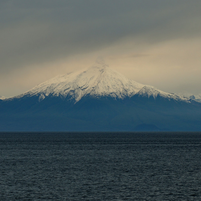 """""""Ferry to Puerto Montt from Puerto Chacabuco. Approx. S43.2237 W73.2724"""" stock image"""