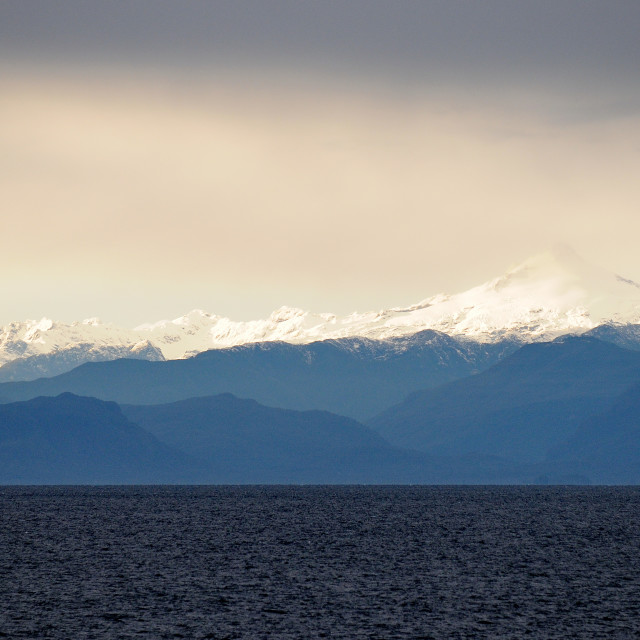 """""""Ferry to Puerto Montt from Puerto Chacabuco. Aprox. S43.158 W73"""" stock image"""