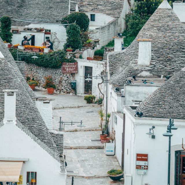 """""""Trolls Houses in Alberobello, Italy"""" stock image"""
