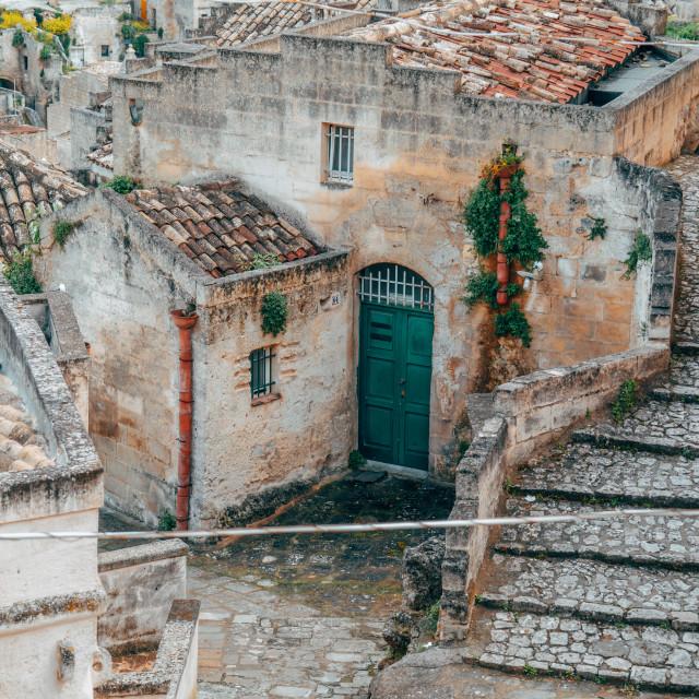 """Closeup in Matera, Italy"" stock image"
